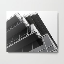 Stacked Prisms Metal Print