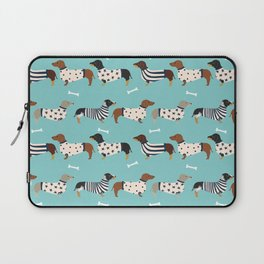 Dachshund sweaters cute gifts for dog lover pet friendly dog breed dachsie doxie dogs Laptop Sleeve