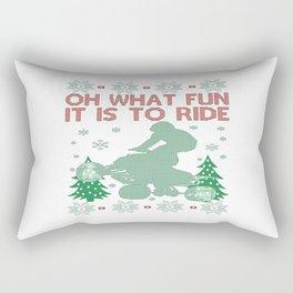 Quad Biking Christmas Rectangular Pillow