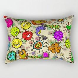 Doodle Germs Rectangular Pillow