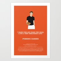 pushing daisies Art Prints featuring Pushing Daisies - Ned by MacGuffin Designs