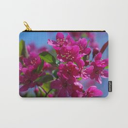 Rosy spring crabapple blossoms - Malus 'Prairifire' Carry-All Pouch