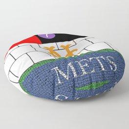 NYC Mets Subway Floor Pillow