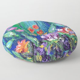 Summer Floral Floor Pillow