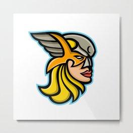 Valkyrie Warrior Mascot Metal Print