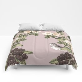 Birds and the Bees Pink Berry Comforters