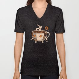Coffeezilla X-ray Unisex V-Neck