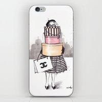 shopping iPhone & iPod Skins featuring Shopping Junkie by anna hammer