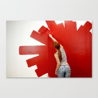redhead Canvas Prints featuring Redhead by Twilight Productions