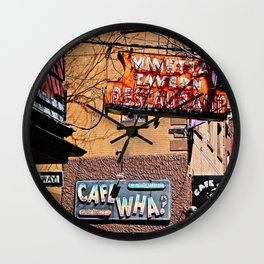 Signs of Greenwich Village, NYC Wall Clock