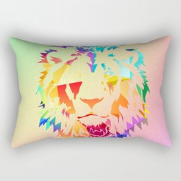 Rainbow Lion Rectangular Pillow