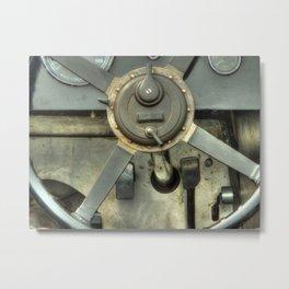 Vintage Cockpit Metal Print