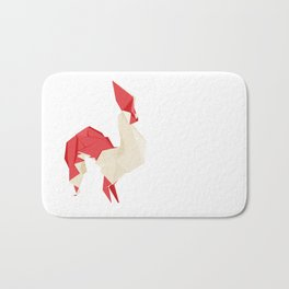 Origami Rooster Bath Mat