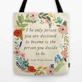 Emerson quote Tote Bag