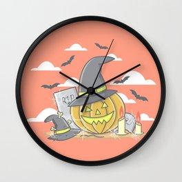Vintage Pumpkin Scene Halloween | Funny & Great Gift Wall Clock