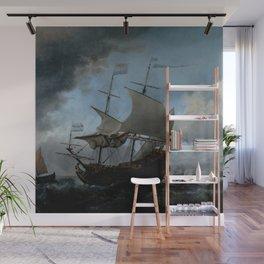 """Willem van de Velde """"The Dutch Fleet Assembling"""" Wall Mural"""