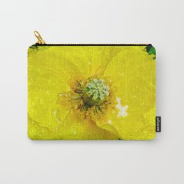 Yellow Poppy Carry-All Pouch