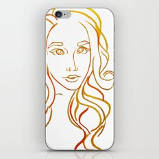 Yellow Portrait iPhone & iPod Skin