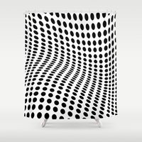 wave Shower Curtains featuring Wave by fly fly away