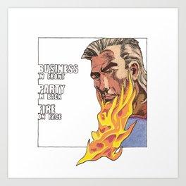 Beard of fire Art Print