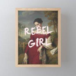 REBEL GIRL Framed Mini Art Print
