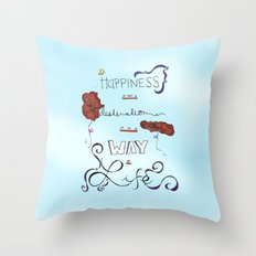 Poppies Are Happy Flowers Throw Pillow