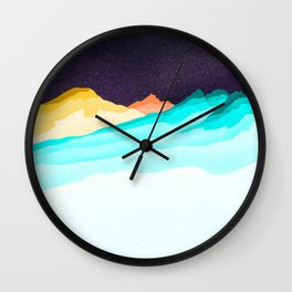 Three Sisters Mountains Wall Clock