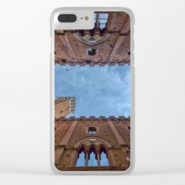 The Palazzo Comunale Clear iPhone Case