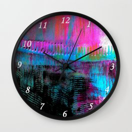 Pink line S43 Wall Clock
