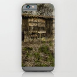 (Hand Colored B&W) Abandoned Barn iPhone Case