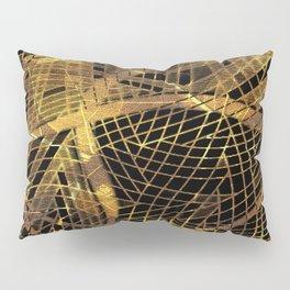 Gold Leaf Layered Gossamer 3D Abstract Pillow Sham