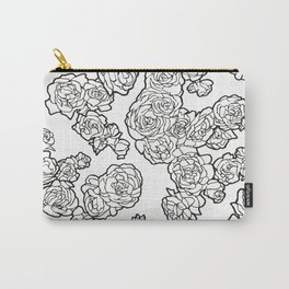 Peonies and Roses, Ink artwork Carry-All Pouch