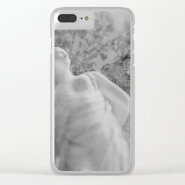 film photograph taken with crown graphic 4x5 camera Clear iPhone Case