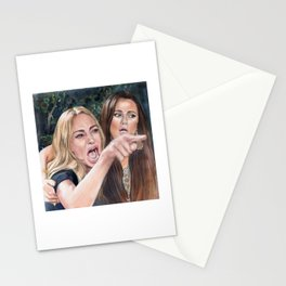 Woman Yelling at Cat Meme-1 Stationery Cards