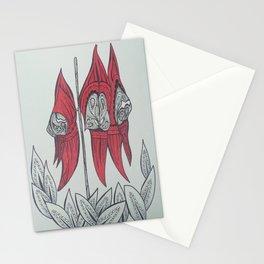 Sturt Desert Pea Australian Tangled Wild Flower Stationery Cards