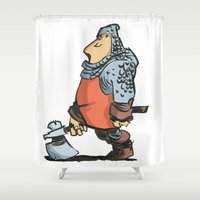 winter soldier Shower Curtains featuring Soldier by Inigo Izal