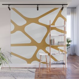 Abstract Golden lines Wall Mural