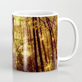 Forest of the Fairies Golden Leaves Coffee Mug