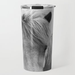 Horses - Black & White 7 Travel Mug