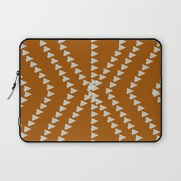 Down To Earth Terracotta Geometric Laptop Sleeve
