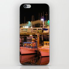 Harbor Reflection at Night iPhone & iPod Skin