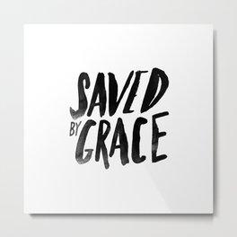 Saved by Grace Metal Print