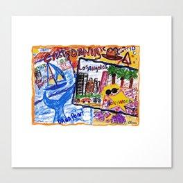 California Postcard Canvas Print