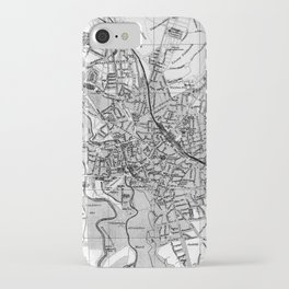 Vintage Map of Hanover Germany (1895) BW iPhone Case