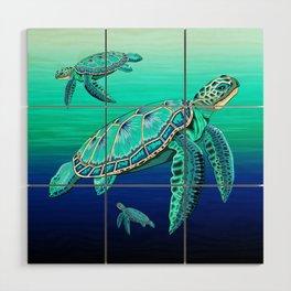Sea Turtle Turquoise Oceanlife Wood Wall Art