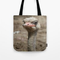 ostrich Tote Bags featuring Ostrich by S0ultrain Photography