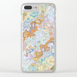 Abstract Shapes Pattern Clear iPhone Case