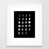 moon phases Framed Art Prints featuring Moon Phases by VMoe