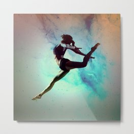 Ballet Dancer Feat Lady Dreams Abstract Art Metal Print