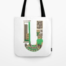 U as Urbaniste (Town planner) Tote Bag